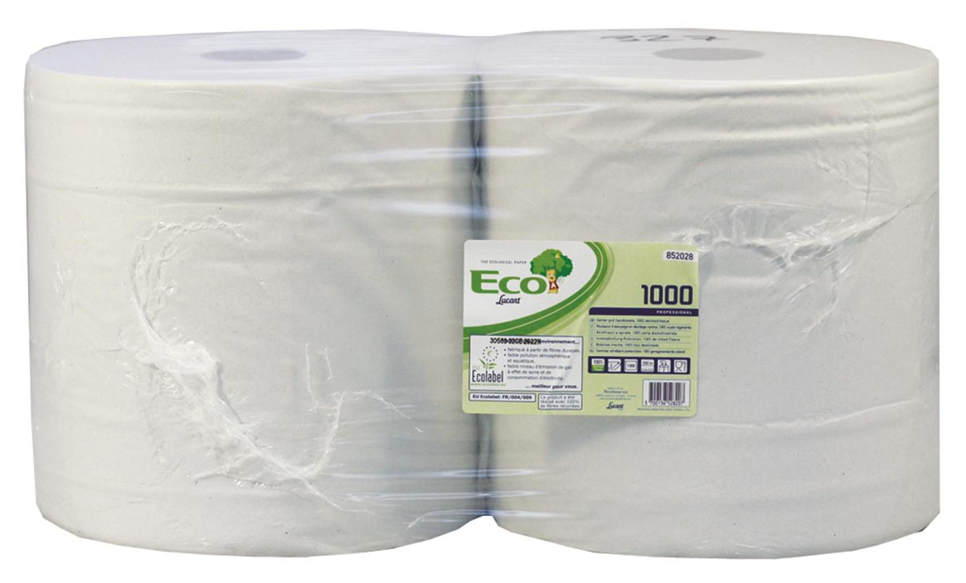 Lucart Eco White 2 Ply Recylced White Wiping Roll 852028Z
