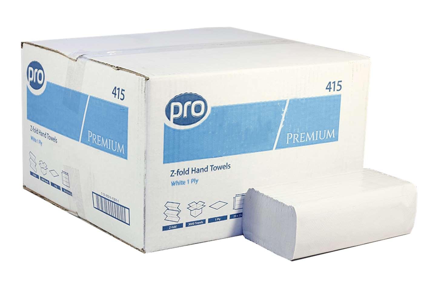 PRO Z-Fold White 1 Ply Paper Towel