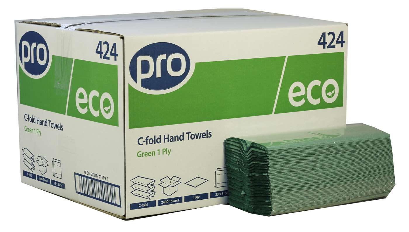 PRO C-Fold 1 Ply Recycled Paper Towels