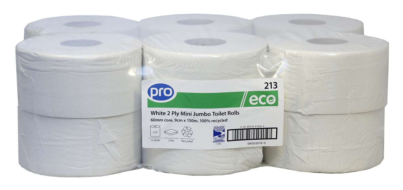 PRO Mini Jumbo Toilet Rolls 150m (60mm core)