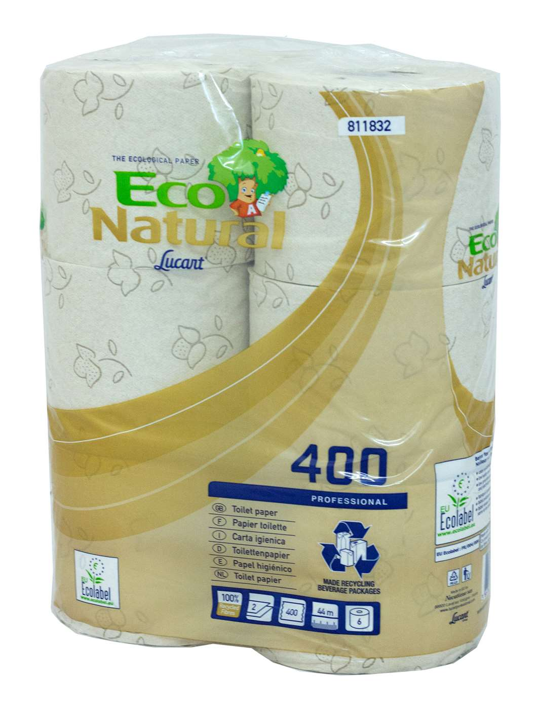 EcoNatural 400 Sheet 2 Ply Toilet Rolls