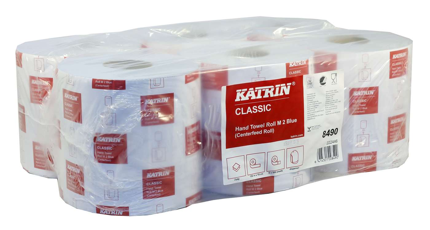 Katrin Classic M2 Blue Centrefeed Roll 8490