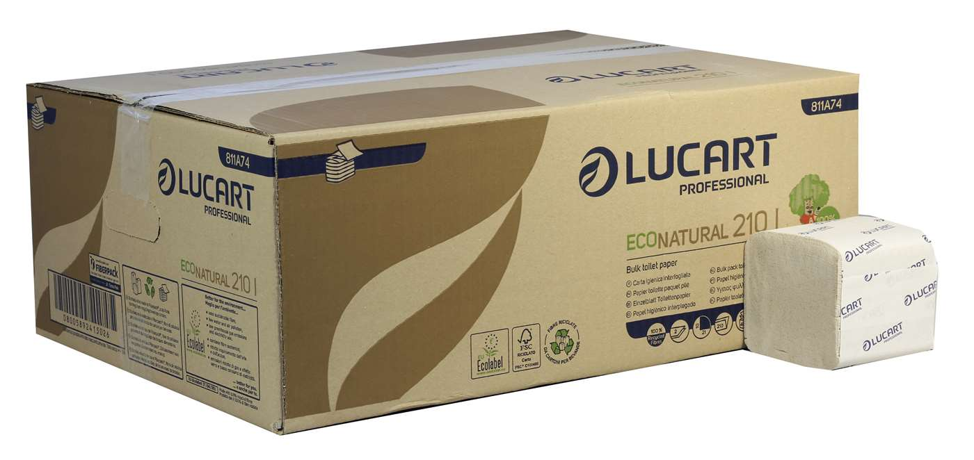 EcoNatural 2 Ply Bulk Pack Toilet Paper Unbleached