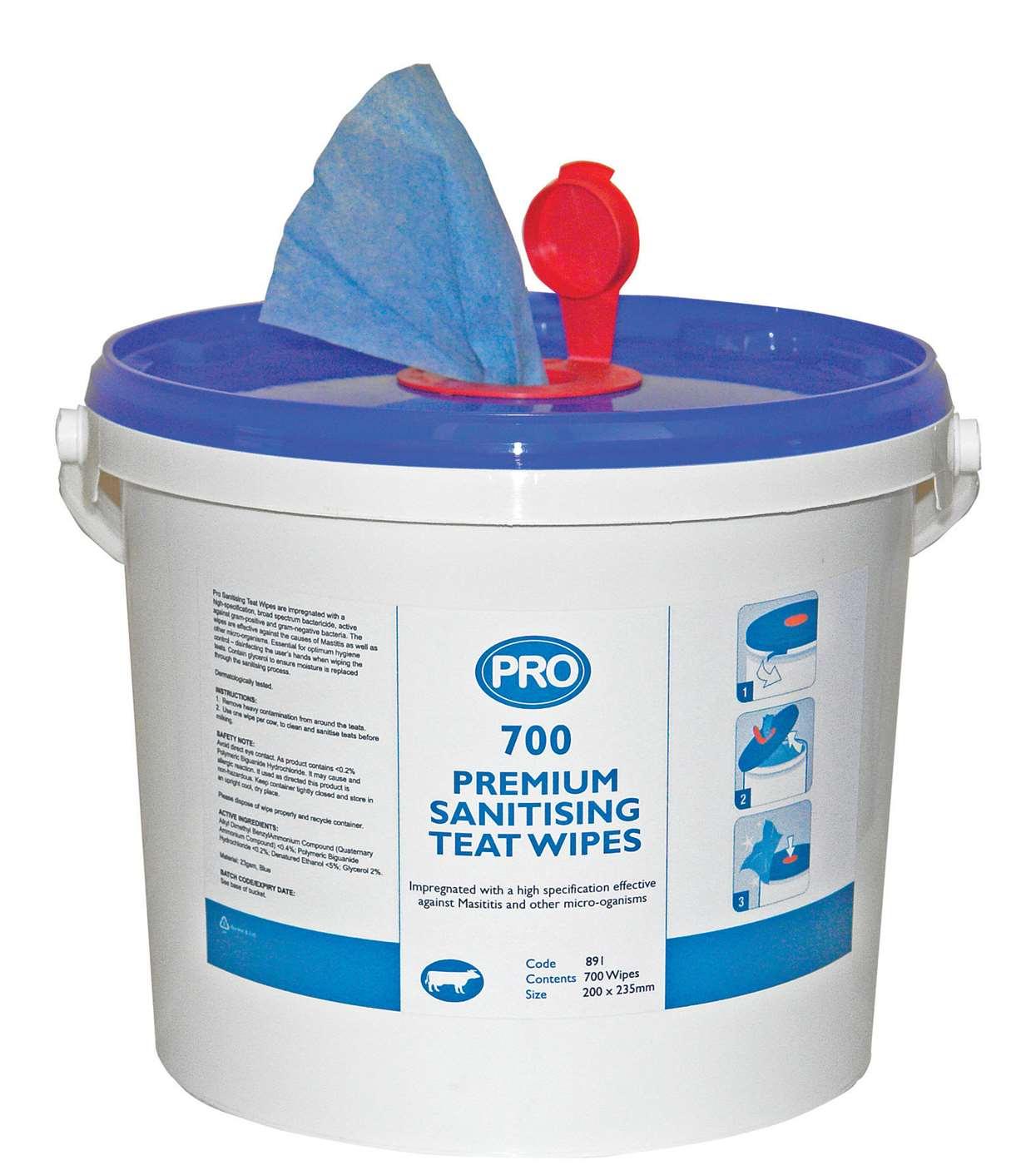 Premium Dairy Teat Wipe Bucket Only