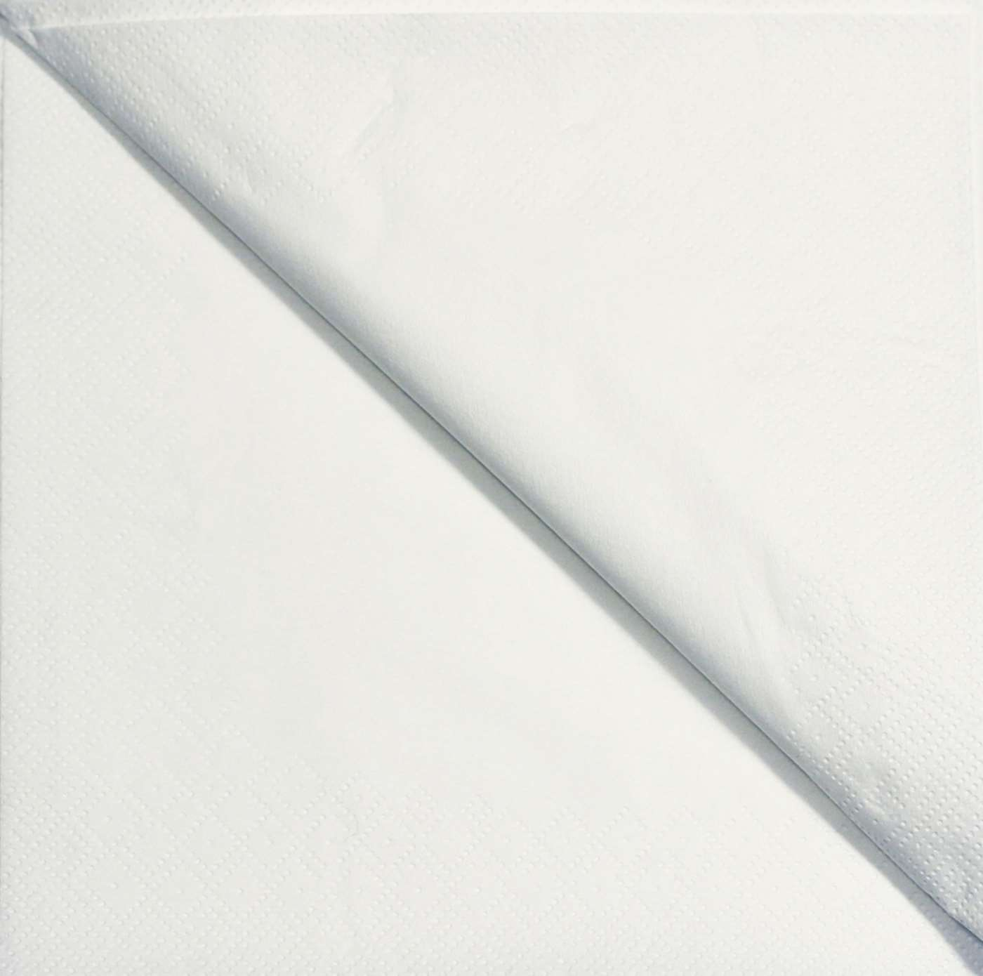 40cm 3 Ply White Napkin