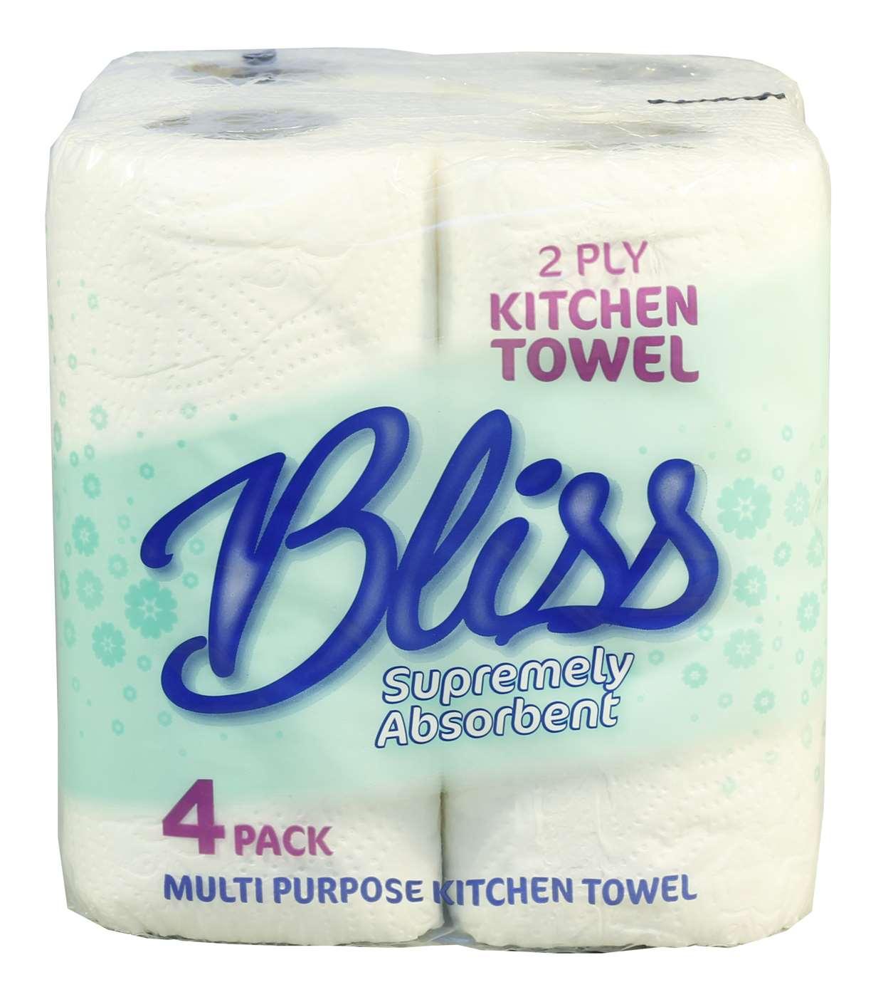 Bliss 2 ply 50 sheet Kitchen Rolls