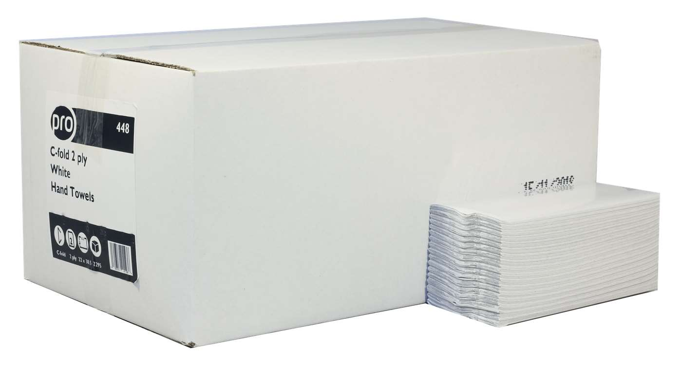 PRO C-Fold 2 Ply White Paper Hand Towels