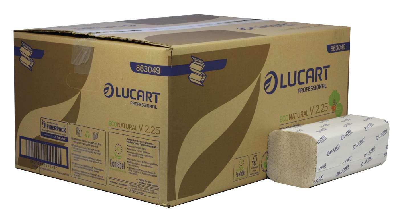 EcoNatural V2.25 V-Fold 2 Ply Paper Hand Towels