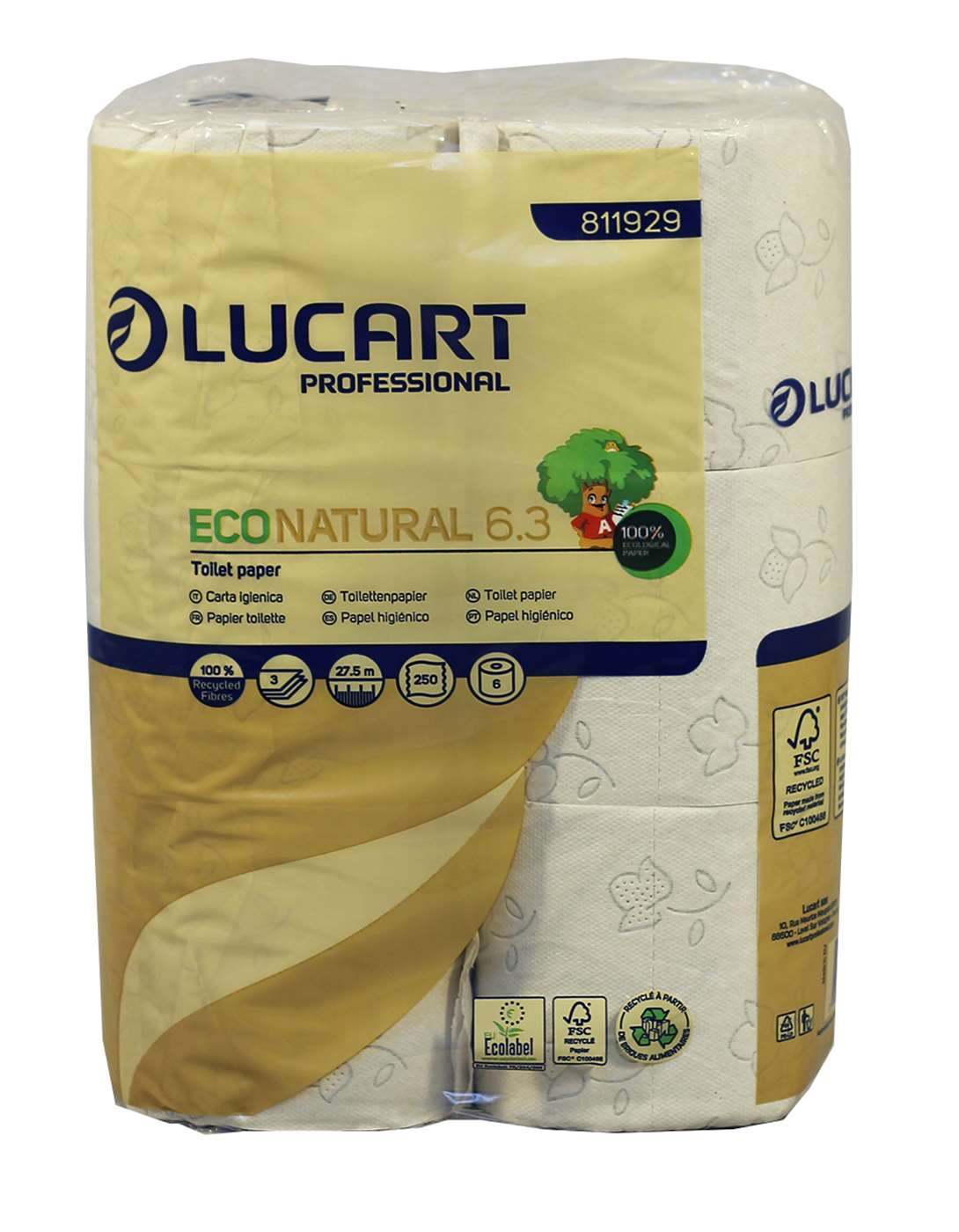 EcoNatural 250 Sheet 3 Ply Toilet Rolls