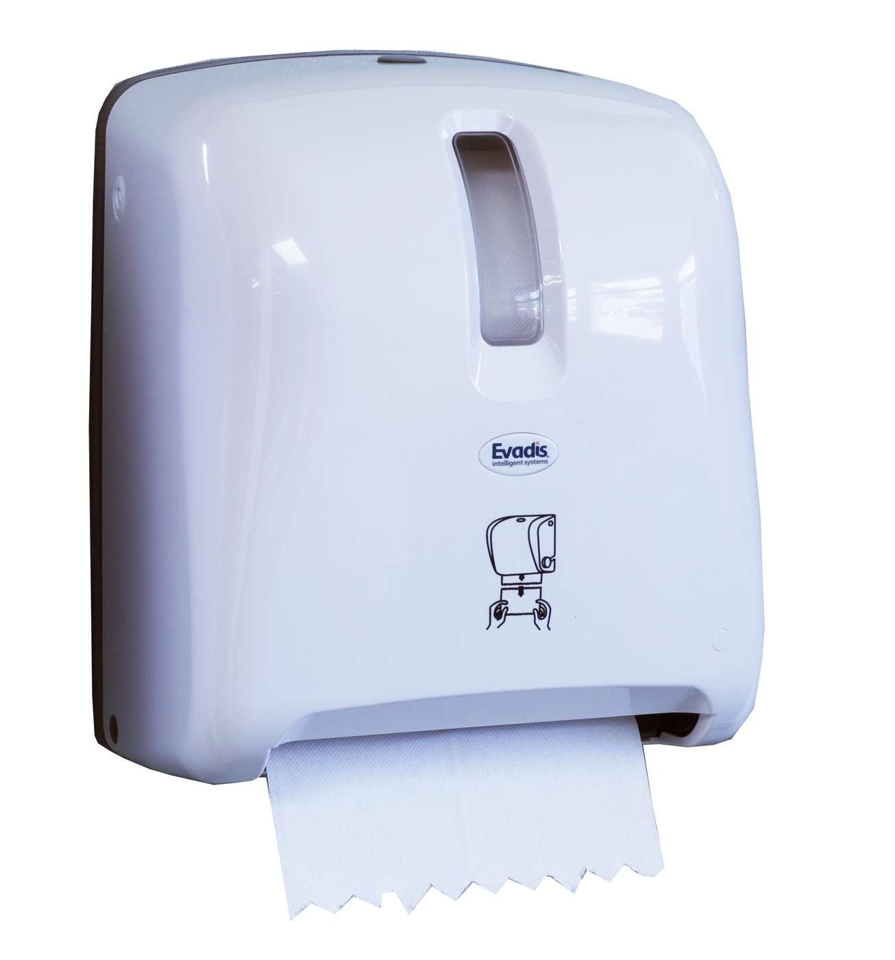 White Autocut Roll Towel Dispenser