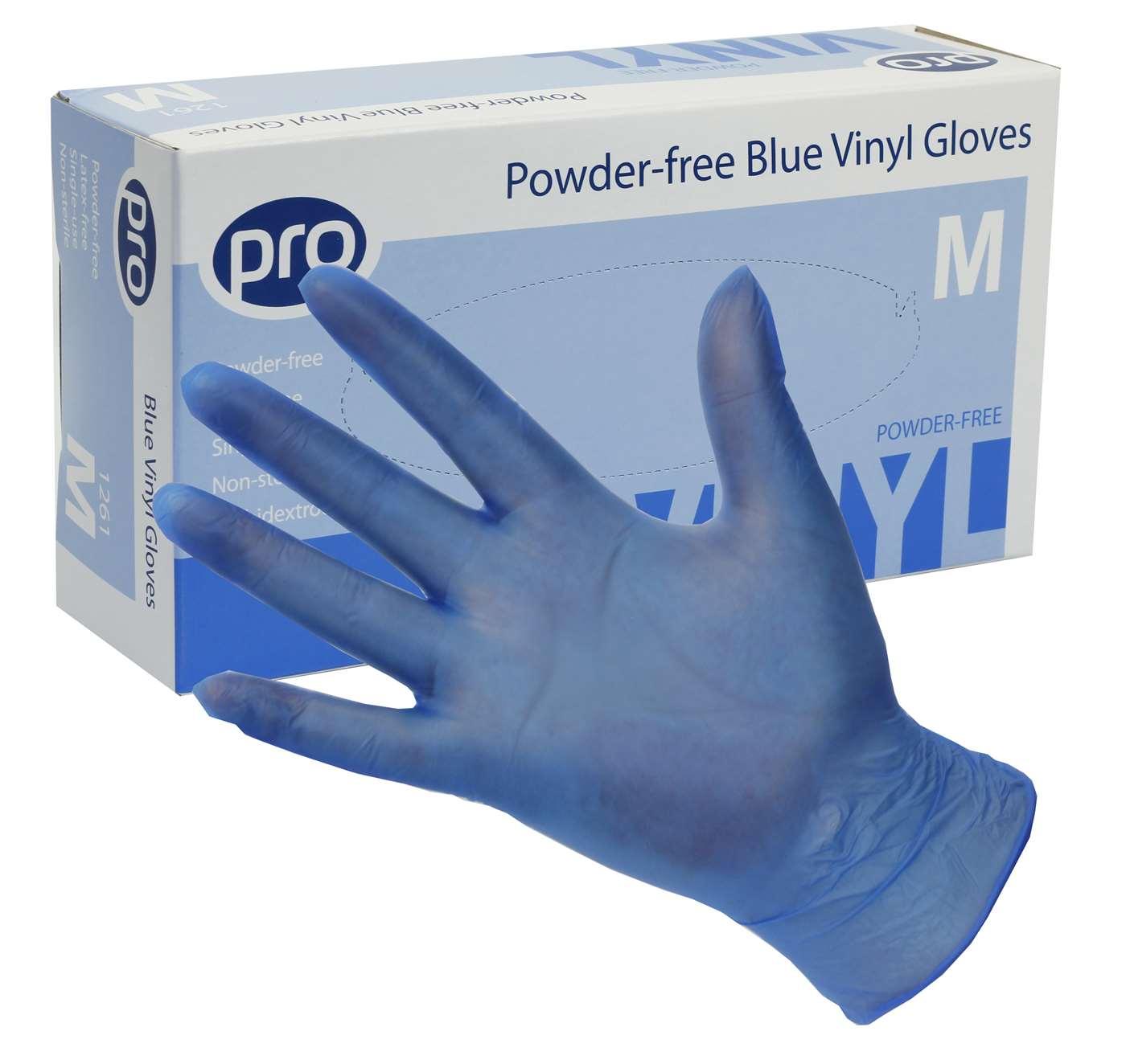 PRO Powder-Free Blue Vinyl Gloves