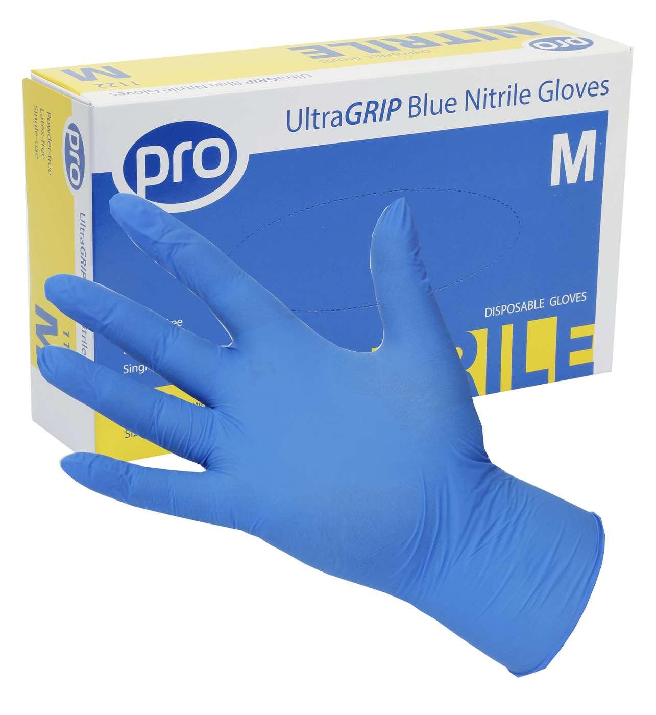 PRO UltraGRIP Blue Nitrile Gloves